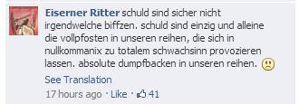 07 - Comments at Die Eisernen on facebook