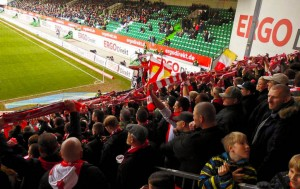 Packed away end in Fürth