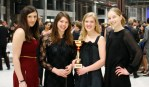 Women's Epee team incl Paula (who came along despite being unable to fence)