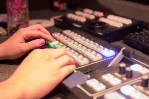 Mobile Production Unit switcher console
