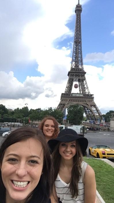 Brittany, Faith, and Rachel in Paris