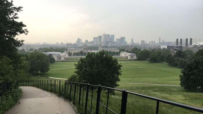 View from the Royal Observatory, Greenwich