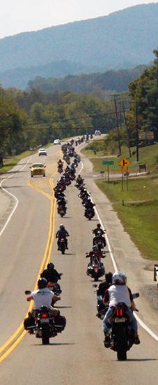 Bikes going through Grainger County