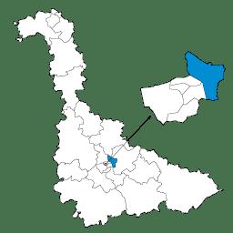 Carte : le canton de Saint-Max dans la Meurthe-et-Moselle
