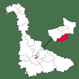 Carte : le canton de Vandoeuvre-lès-Nancy dans la Meurthe-et-Moselle