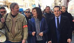 Christopher Varin à la manifestation des policiers à Nancy