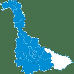 Carte : le canton de Baccarat dans la Meurthe-et-Moselle