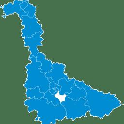 Carte : canton de Jarville-la-Malgrange dans la Meurthe-et-Moselle