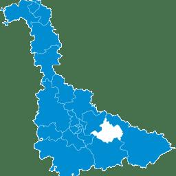 Carte : canton de Lunéville 1 dans la Meurthe-et-Moselle