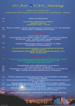 2013 - III AstroUAN_Meeting