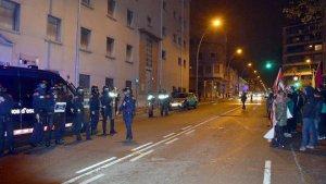 Manifestación en Manresa en contra de la Guardia Civil