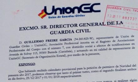 UnionGC solicita que se cambien las fechas de los permisos de Navidad