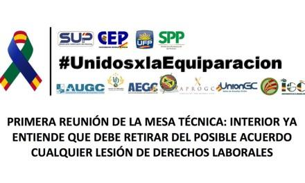 Las asociaciones y sindicatos consiguen que Interior retire la lesión de derechos laborales #JuntosxlaEquiparacion