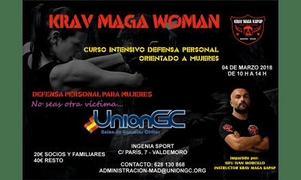 Curso de defensa personal Krav Maga para mujeres organizado por UnionGC