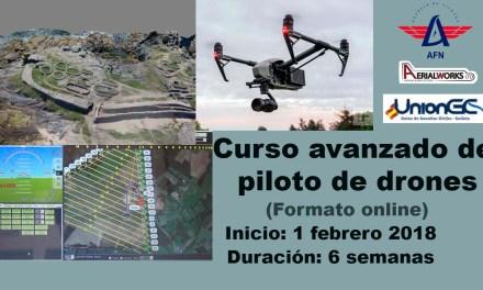 Curso avanzado de piloto de RPAS (drones) de UnionGC