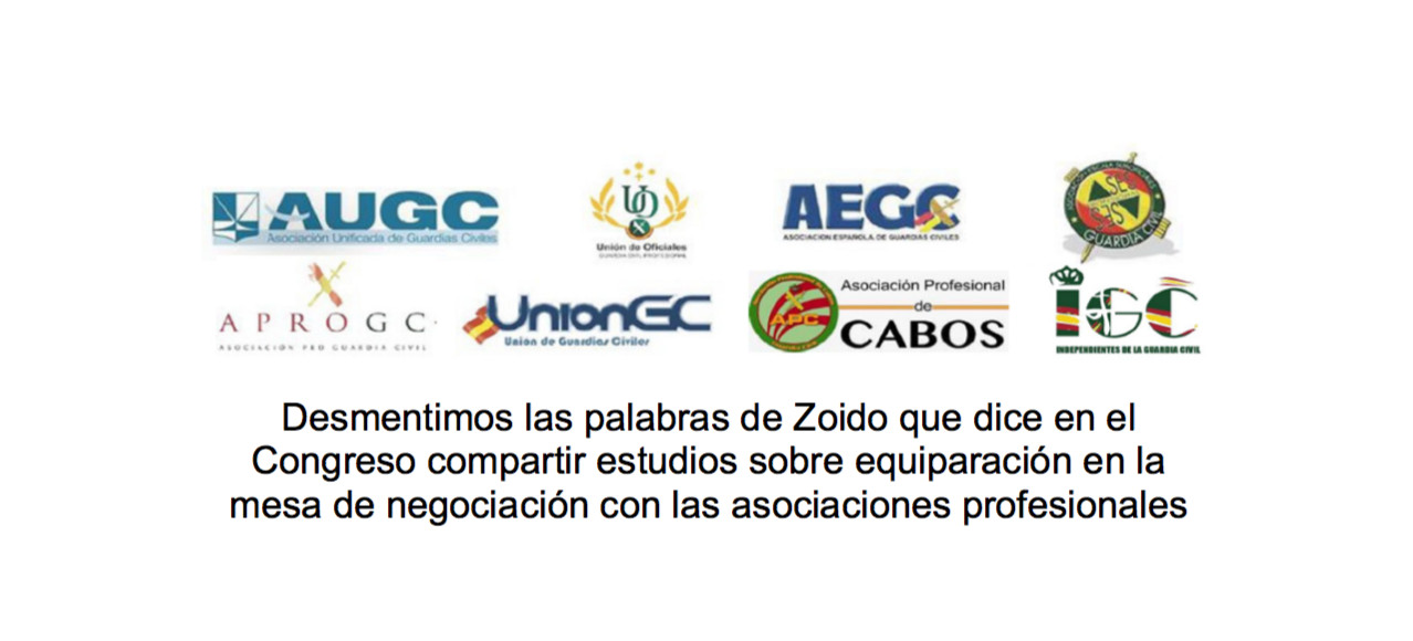 Las asociaciónes representativas de Guardia Civil manifiestan que Zoido no dice la verdad