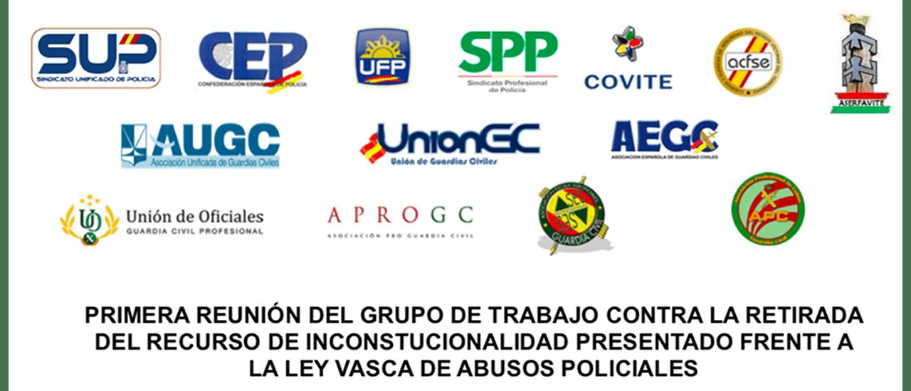 Algunas asociaciones de Guardia Civil, sindicatos policiales y asociaciones de víctimas se unen contra la ley vasca de abusos policiales