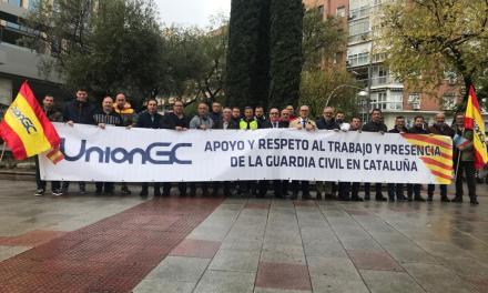 UnionGC se concentra en Madrid en apoyo a los compañeros de Cataluña y sus familias