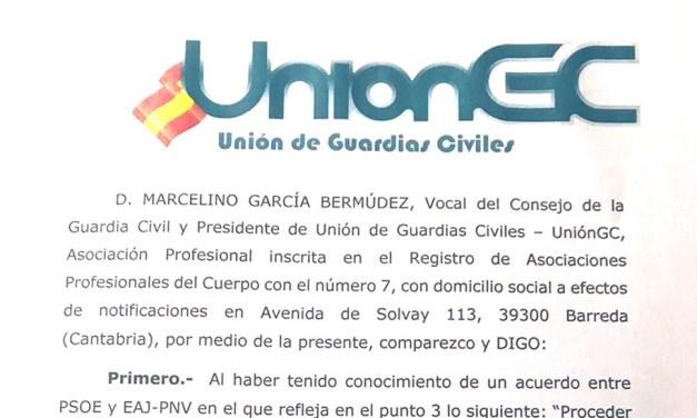 UnionGC solicita una reunión urgente con Marlaska para solucionar la situación de los compañeros en Navarra