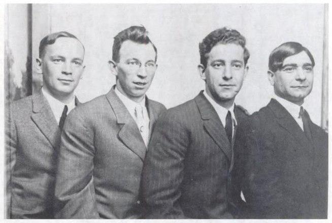 Left to Right: Jay Smith, E. F. Doree, Covington Hall, C. L. Filigno.