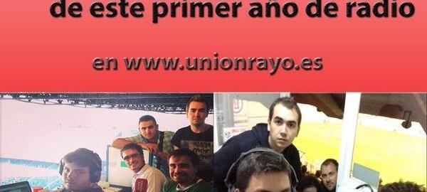 ESPECIAL PRIMER AÑO DE UNIÓN RAYO