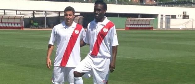 Presentación de Aguirre y Boateng como jugadores del Rayo