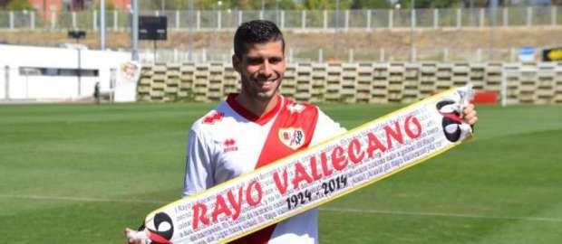Presentación de Insúa como jugador del Rayo Vallecano