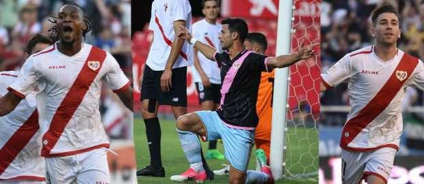 Goles por minuto de los atacantes del Rayo Vallecano