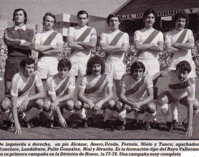 Rayo Vallecano Temporada 1977-78. Fuente: Unión Rayo