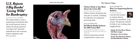 Example from the NY Times for how to organize your website's visual content