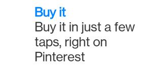 social media buy buttons pinterest