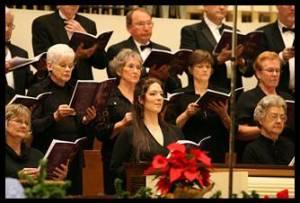 Christmas Chorus singers