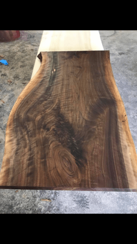 Figured Walnut Coffee Table Top