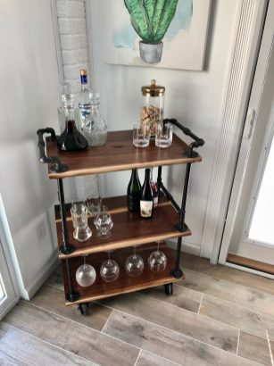 Walnut Kitchen Cart