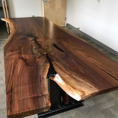 Walnut Slab Conference Table 120 x 48