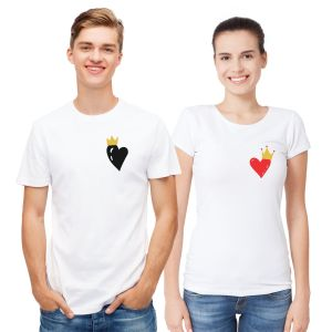 Hearts Couple T Shirts