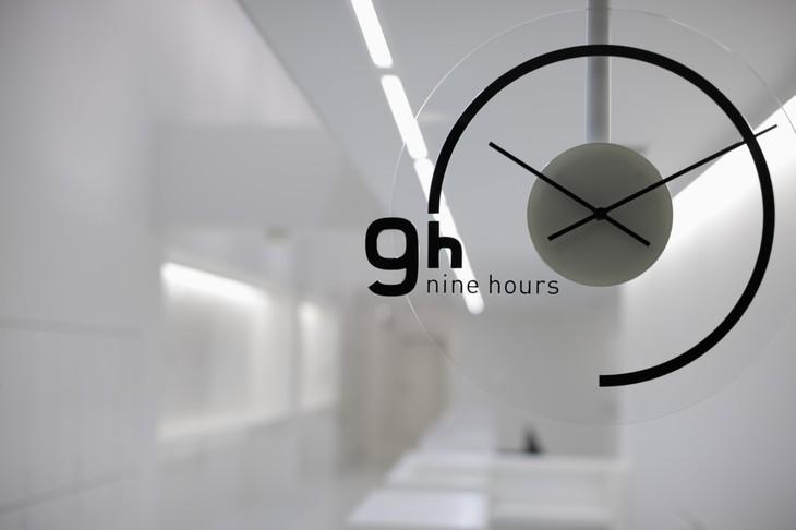 9 Hours Capsule Hotel Clock