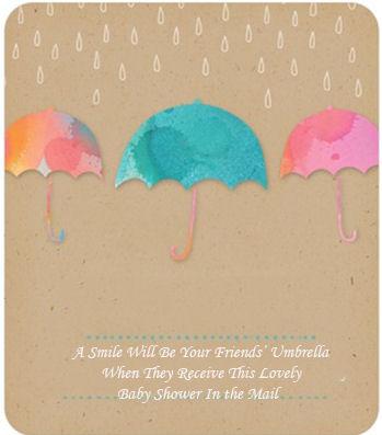 Umbrella Baby Shower Invitations Ideas