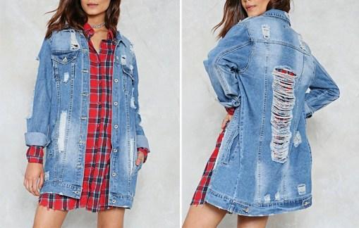 jacheta dama, jacheta jeans, jacheta ripped, haine, haine dama, unique fashion,