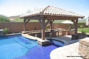 Swim Up Bars in your Own Backyard - Phoenix Landscaping ... on Backyard Pool Bar Designs id=93566
