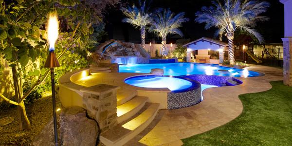 Backyard Oasis in Gilbert - Project - Phoenix Landscaping ... on Backyard Renovation Companies id=80905