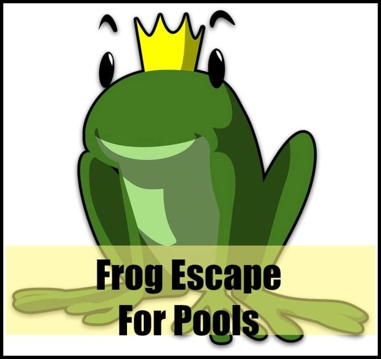 frog escape for pool
