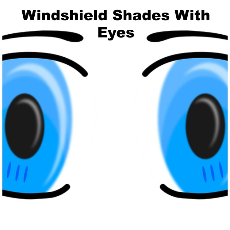 windshield shades with eyes