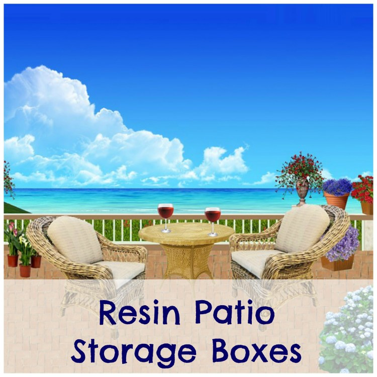 resin patio storage boxes