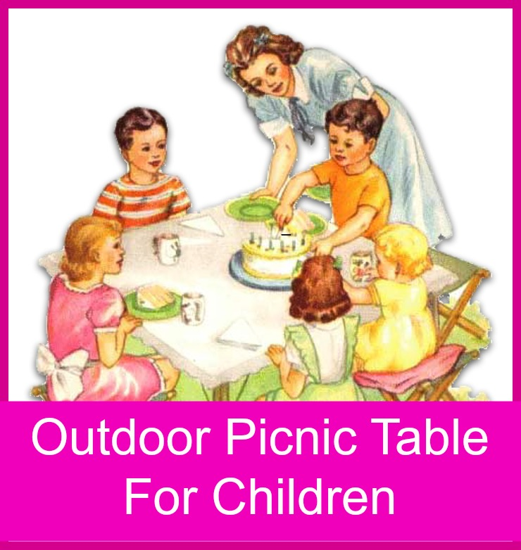 children plastic picnic tables