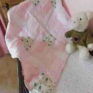 Pink Zoo Animals Handmade Baby Quilt