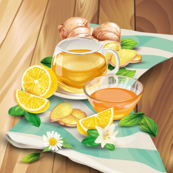 ginger tea composition wooden background 1441 951 Alimente minune pentru un corp sănătos