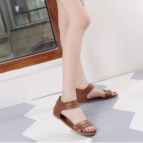 O vară cu sandale damă piele