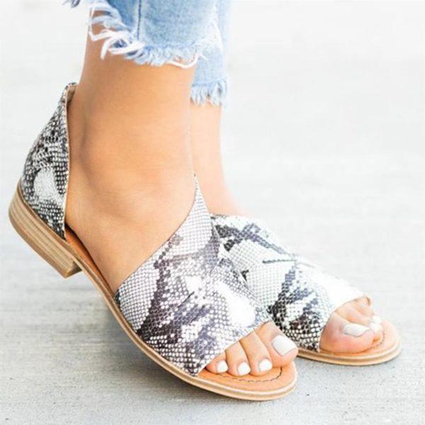 O vară cu sandale damă piele (P)