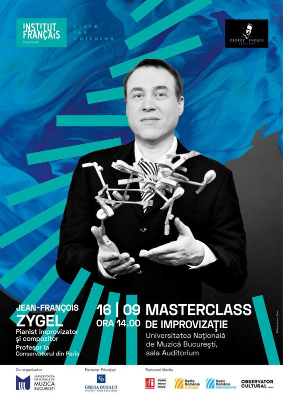 JF Zygel 16 sept masterclass Imaginile lui Enescu aprind imaginația artiștilor români